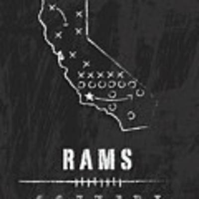 Los Angeles Rams Art - Nfl Football Wall Print Art Print by Damon Gray