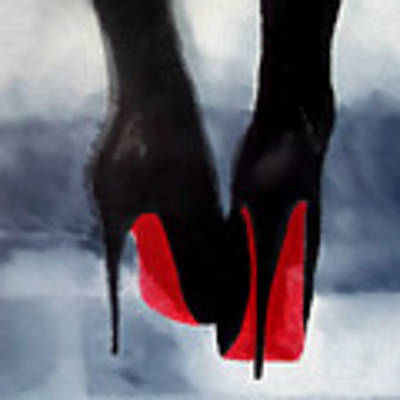 Louboutin At Midnight Art Print by My Inspiration