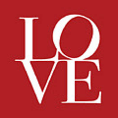 Love In Red Square Art Print
