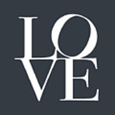 Love In Slate Grey Art Print by Michael Tompsett