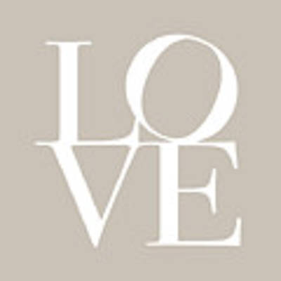 Love In Taupe Art Print by Michael Tompsett