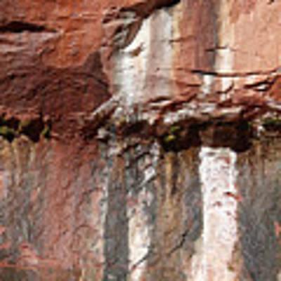 Lower Emerald Pool Rock-zion National Park Art Print by PJ Boylan