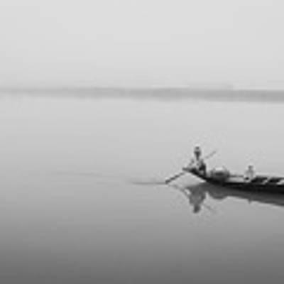 Lower Ganges - Misty Morinings Art Print by Chris Cousins