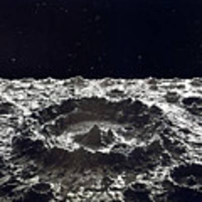 Lunar Crater, 1874.  Art Print by Granger
