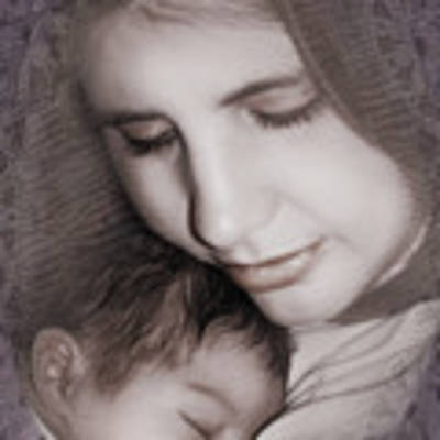 Madonna And Child 3 Art Print by Kate Word