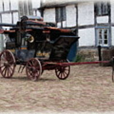 Mail Coach At Lacock Art Print by Paul Gulliver
