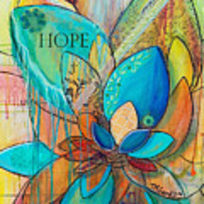 Spirit Lotus With Hope Art Print by TM Gand