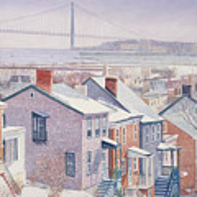 Monroe St Staten Island Art Print