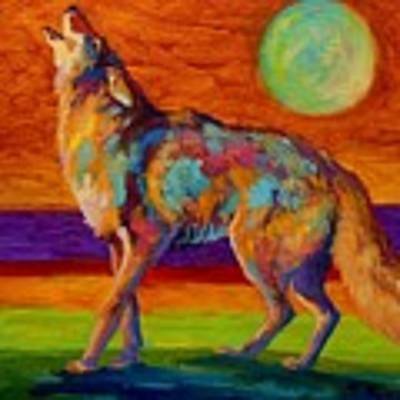 Moon Talk - Coyote Art Print