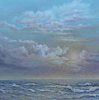 Morning At The Ocean Art Print by Katalin Luczay