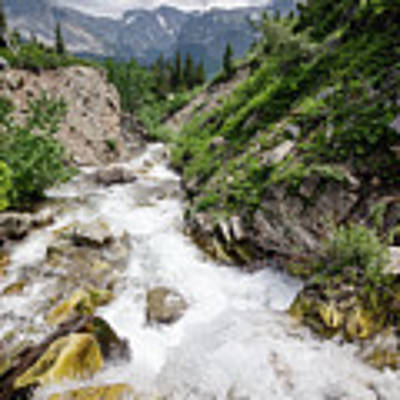 Mountain River Art Print by Margaret Pitcher