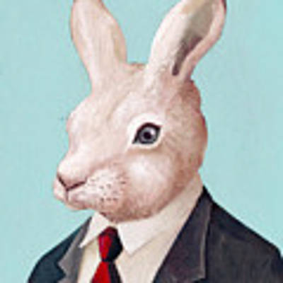 Mr Rabbit Art Print by Animal Crew