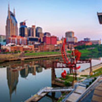 Nashville Skyline - Square Format Art Print by Gregory Ballos