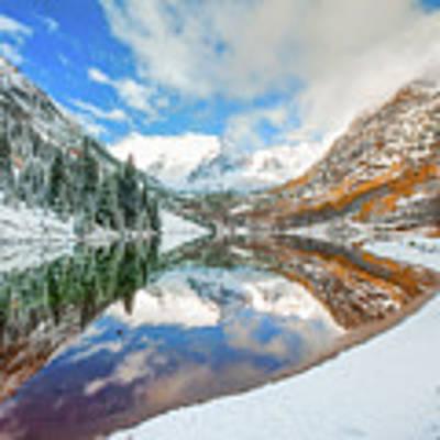 Natures Divine Canvas - Maroon Bells Aspen Colorado Art Print by Gregory Ballos