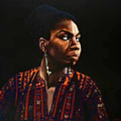 Nina Simone Painting Original by Paul Meijering