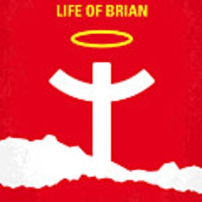 No182 My Monty Python Life Of Brian Minimal Movie Poster Art Print