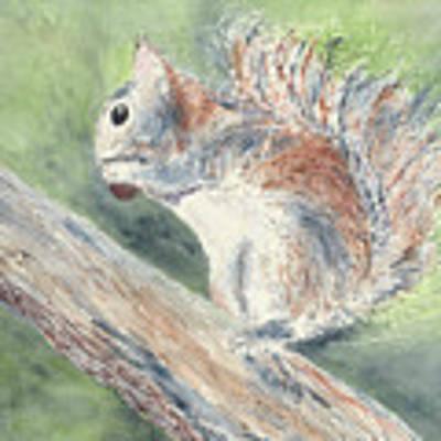 Nut Job Art Print by Kathryn Riley Parker