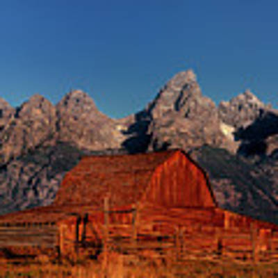 Old Barn Grand Tetons National Park Wyoming Art Print by Dave Welling