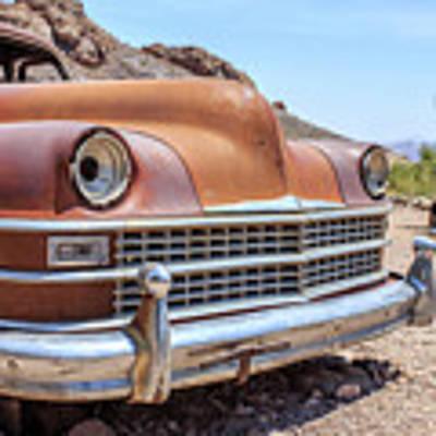 Old Cars In The Desert, Eldorado Canyon, Nevada Art Print by Edward Fielding