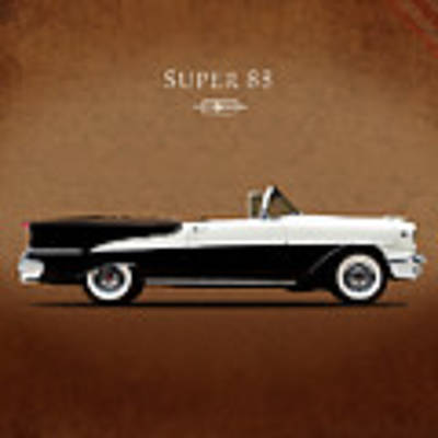 Oldsmobile Super 88 1955 Art Print