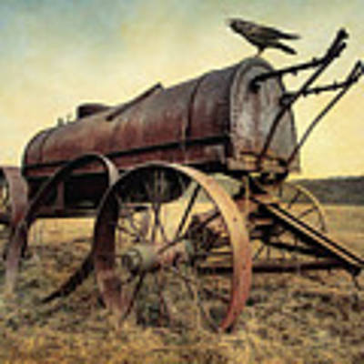 On The Water Wagon - Agricultural Relic Art Print by Gary Heller