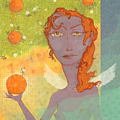Orange Angel 1 Art Print