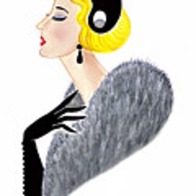 Parisien Chic - Gabrielle Art Print by Di Kaye