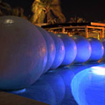 Pool Balls At Night Art Print by Shane Bechler