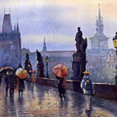 Prague Charles Bridge Art Print by Yuriy Shevchuk