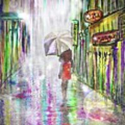 Rainy Paris Day Art Print by Darren Cannell