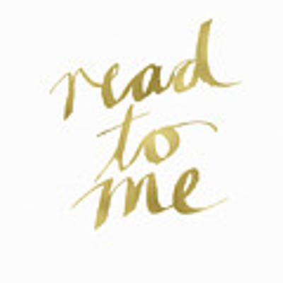 Read To Me Gold- Art By Linda Woods Art Print
