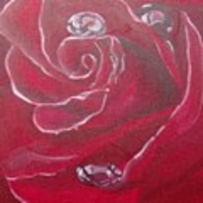 Red Art Print by Saundra Johnson