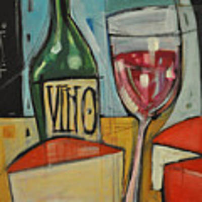 Red Wine And Cheese Original by Tim Nyberg