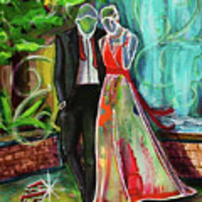 Romance Each Other Art Print by TM Gand