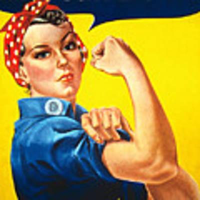 Rosie The Riveter Vintage  Original by Tony Rubino