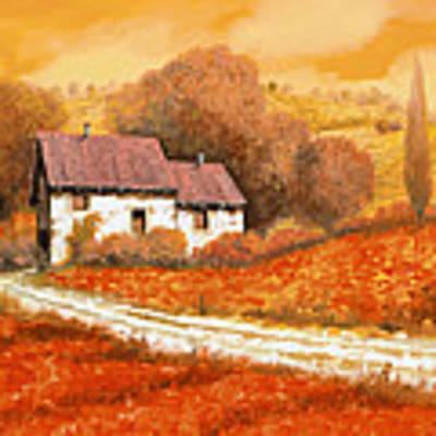 Rosso Papavero Art Print by Guido Borelli