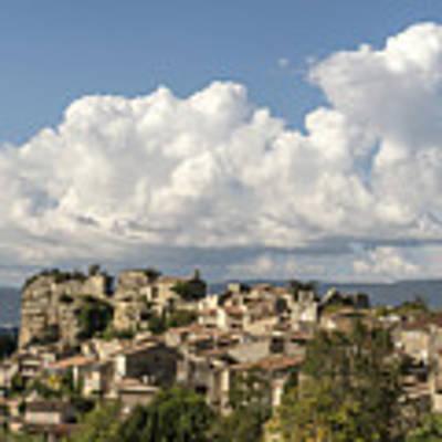 Saignon Village Provence  Art Print by Juergen Held