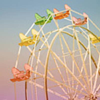 Santa Cruz Ferris Wheel Art Print