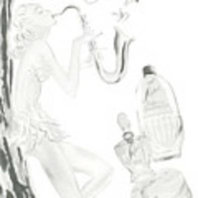 Sax Girl Art Print by ReInVintaged