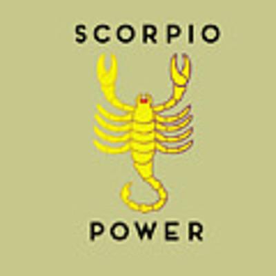 Scorpio Power Art Print by Judy Hall-Folde
