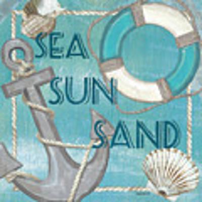 Sea Sun Sand Art Print