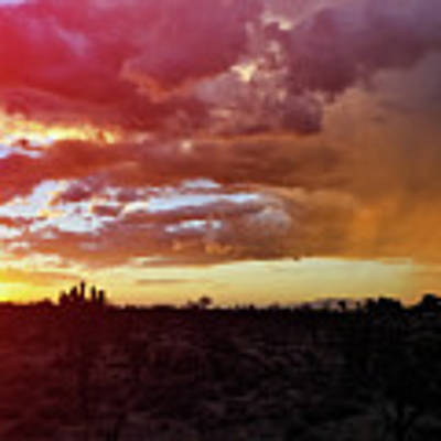 Shadow Valley Mojave Sunset Art Print by Kyle Hanson