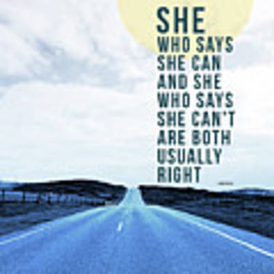 She Who Can- Art By Linda Woods Art Print by Linda Woods