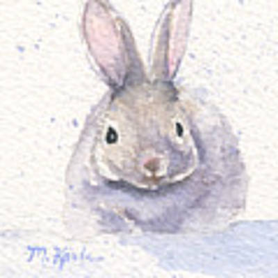Snow Bunny Original by Marsha Karle