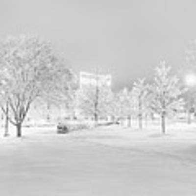 Snow On Pettigrew Art Print by Ben Shields