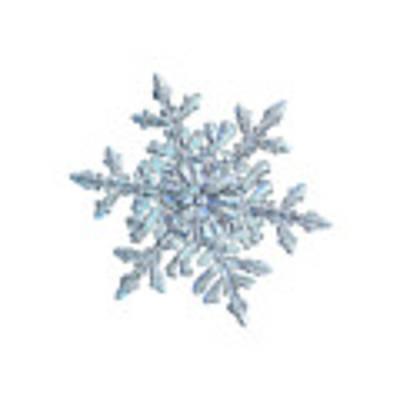 Snowflake 2018-02-21 N1 White Art Print by Alexey Kljatov