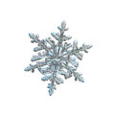 Snowflake 2018-02-21 N2 White Art Print by Alexey Kljatov