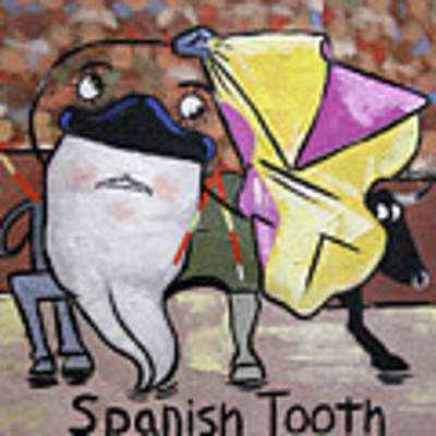 Spanish Tooth Art Print by Anthony Falbo