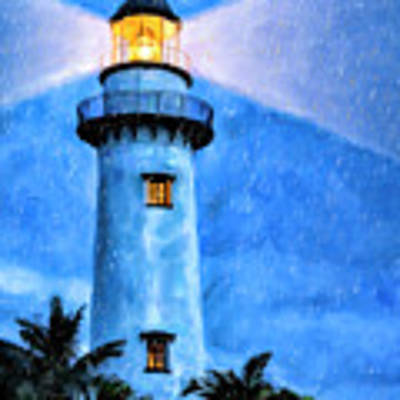 Lights On For You At St. Simons Art Print by Mark Tisdale