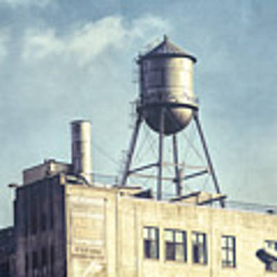 Steel Water Tower, Brooklyn New York Art Print by Gary Heller